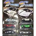 Hot Wheels Forza - Set of 7 Diecast Car's (Falcon Ford Race Car, AMC Javelin AMX, 13' SRT Viper, McLaren P1, Lamborghini Huracan LP 610-4, BMW M4, '09 Ford Focus RS)