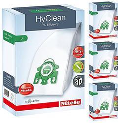 Miele Genuine S7510 S7580 U Type 3D HyClean Vacuum Cleaner Bags & Filter Kit (Pack of 16)