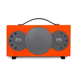 TIBO Sphere 2 | Portable Wi-Fi & Bluetooth Speaker | Multi Room Battery Powered Hi-Fi Speaker with Internet Radio for Home or Outdoor Use | Minimum 8 Hours Playback Time | Orange