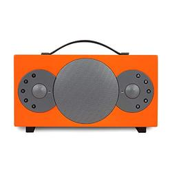 TIBO Sphere 4   Portable Wi-Fi & Bluetooth Speaker   Multi Room Battery Powered Hi-Fi Speaker with Internet Radio for Home or Outdoor Use   Minimum 8 Hours Playback Time   Orange