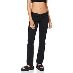 Pepe Jeans Women's Venus Straight Fit Jeans Trouser, Black, 34W/32L