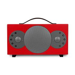 TIBO Sphere 4 | Portable Wi-Fi & Bluetooth Speaker | Multi Room Battery Powered Hi-Fi Speaker with Internet Radio for Home or Outdoor Use | Minimum 8 Hours Playback Time | Red