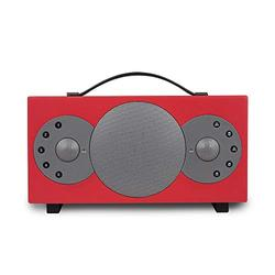 TIBO Sphere 2   Portable Wi-Fi & Bluetooth Speaker   Multi Room Battery Powered Hi-Fi Speaker with Internet Radio for Home or Outdoor Use   Minimum 8 Hours Playback Time   Red