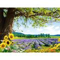 Weaeo 3D Room Wallpaper Custom Photo Non-Woven Mural Lavender Fields Tv Background Wall Painting 3D Wall Murals Wallpaper For Walls-350X250Cm