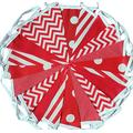 50 mtrs /170 flags red mix spots stripes fabric bunting/banner/garland