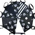 50 mtrs / 170 flags pirate skull and crossbones fabric bunting/banner/garland