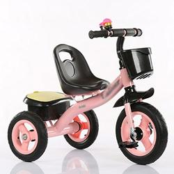&Baby Pushchair Baby Tricycle, Convertible Pedal Trike Push Bike Easy Steer Tricycle Stroller Toy Car (Color : A)