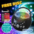 Mr Entertainer Bluetooth Boombox Karaoke Machine Package. Includes built in disco light, portable and Two Mics + FREE Xmas CDG