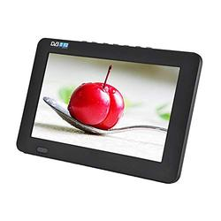 Portable Digital HD TV,1080P 7/9/10/12 Inch Digital TFT Freeview TV,16:9 TFT-LED HD Digital Analog Color TV Television Player Built-in Battery Support U Disk and TF Card (9 Inches)