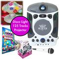 Mr Entertainer Bluetooth Karaoke Machine with LED Projector Party Package. 2 x Mics, Disco Light, Party & 2017 Hits CDG (125 tracks) Song Pack+ FREE Xmas CDG