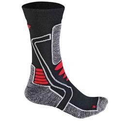 F-Lite Motorbike E100 Ladies Socks, black-grey-red, Size 39 40 41 42 for Women