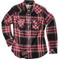 Rokker Madison Women´s Shirt, black-white-red, Size XL