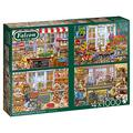 Jumbo, Falcon de luxe - Your Favourite Shops, Jigsaw Puzzles for Adults, 4 x 1,000 piece