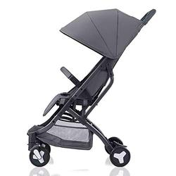 S-Baby Product Baby Pushchair,Carry On Flight Convertible Baby Stroller Compact Baby Pushchair Travel System,Lightweight (Color : Gray)