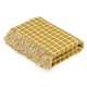 Bronte by Moon - Gold Athens Check Luxury Merino Lambswool Throw 140cm x 185cm - Gold/White
