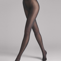 Wolford - Nearly Black Velvet De Luxe 50 Tights - L - Black