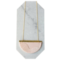 nook of the north - Blush Gold Plated Folke Necklace - Pink/Gold
