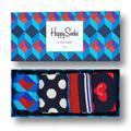 Happy Socks - Gift Box 4-Pack Nautical Gift Socks - 36-40 - Red/White/Blue