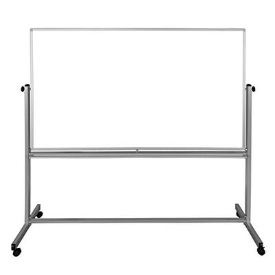 "Luxor 72""W x 48""H Double Sided Mobile Magnetic Whiteboard"