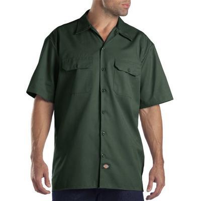 Dickies Shirts: Gulf Blue Short Sleeve Work Shirt 1574GB (M)