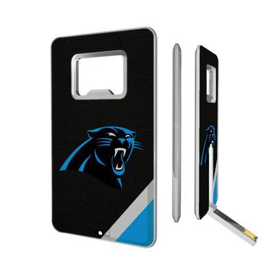 Carolina Panthers Diagonal Stripe Credit Card USB Drive & Bottle Opener