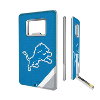 Detroit Lions Diagonal Stripe Credit Card USB Drive & Bottle Opener