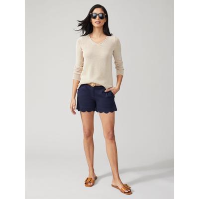J.McLaughlin Women's Petal Shorts Navy Blue Solid, Size 4