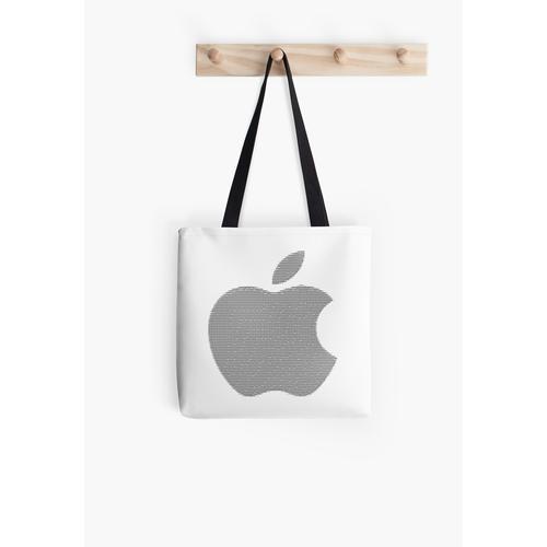 Apple Logo in ASCII Art Tasche