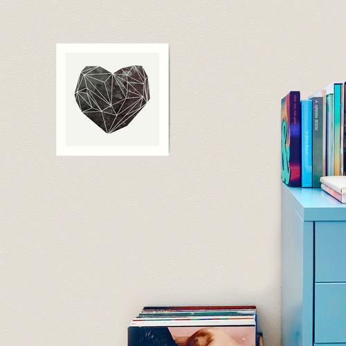 Herz-Grafik 4 Kunstdruck