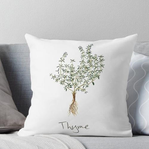 Thymian-Kraut, Thymian-Pflanze, Thymian-Druck, Thymian-Kunstdruck Kissen