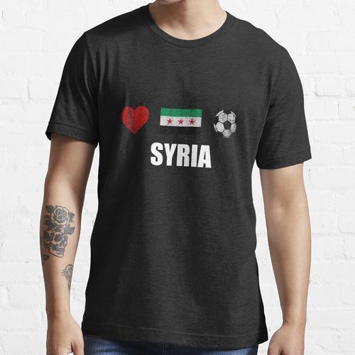 Syrien Fußballtrikot - Syrien Fußballtrikot Essential T-Shirt