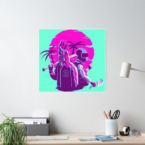 Jacke und Biker Poster