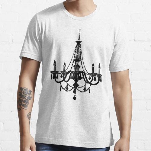 Schwarzer Kronleuchter Essential T-Shirt