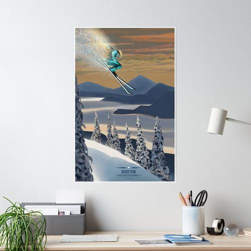 Powder Ski Kunst Poster
