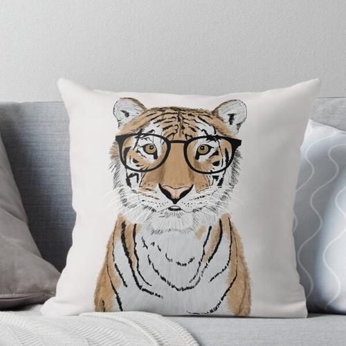 Cleverer Tiger Kissen