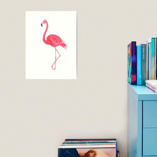 Flamingo Kunstdruck