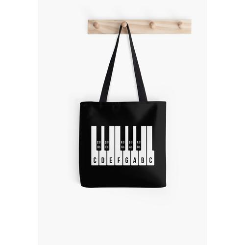 Musikalische Tastatur, C-Dur-Tonleiter (Klavier / Musik / 1C) Tasche