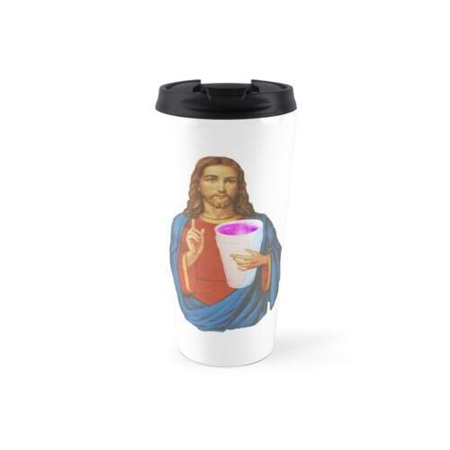 Jesus trinkt Styropor & Purp Thermosbecher