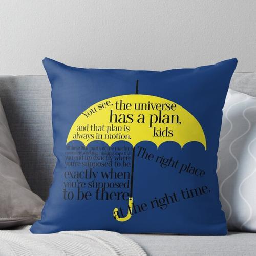 der richtige Ort zur richtigen Zeit Kissen