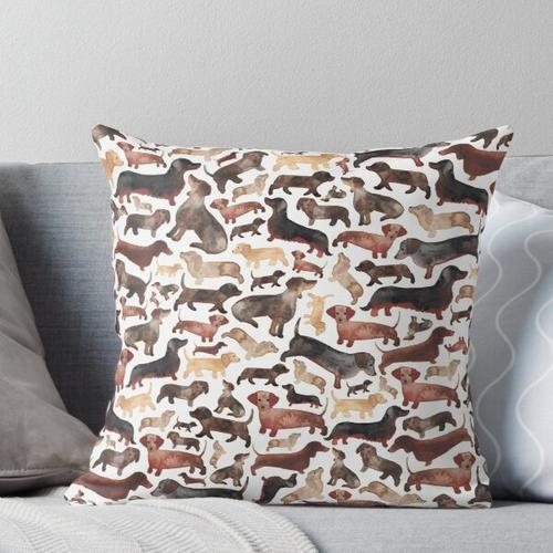 Dackel oder Wursthunde Kissen