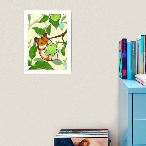 Apfelplantage Kunstdruck