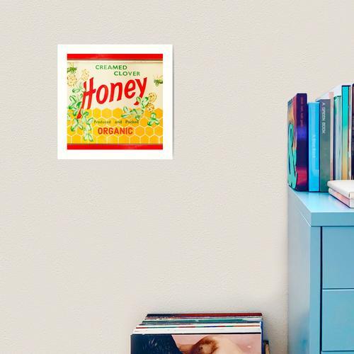 Bio-Rahmspinat-Honig Kunstdruck