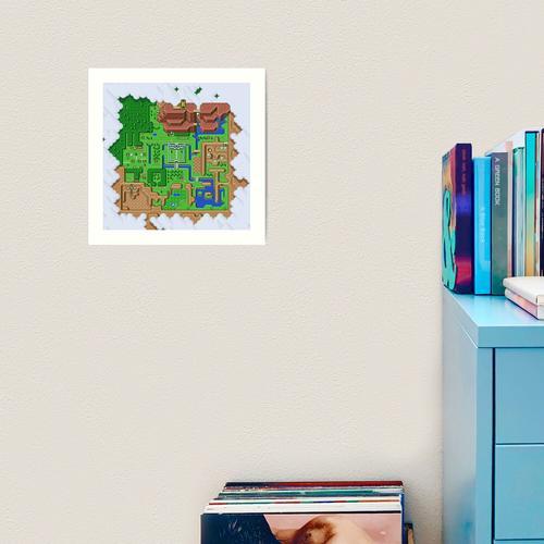 LttP: Weltkarte Kunstdruck