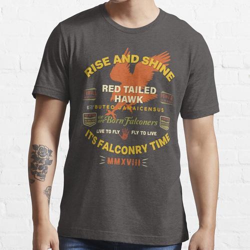 Es ist Falknerei Zeit! Red Tail Hawk II für Falkner Essential T-Shirt