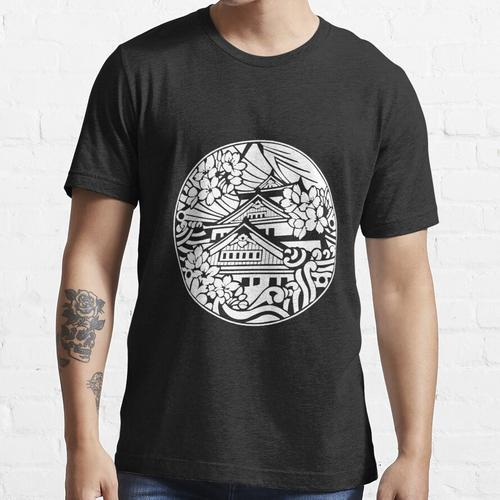 Osaka Castle Abflussdeckel Weiß - Japan Essential T-Shirt