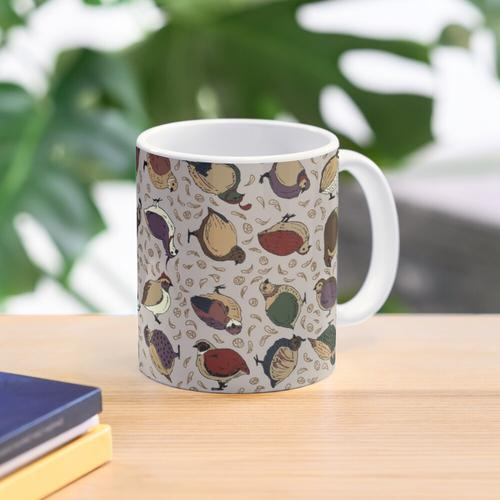 Rustikale Wachteln (jetzt mit mehr Wachteln!) Tasse