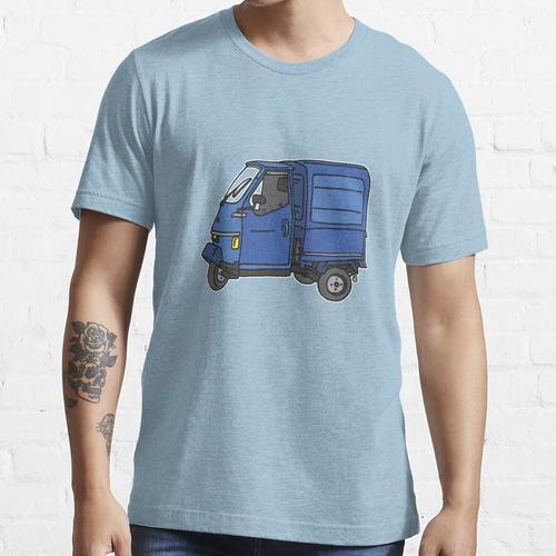 Blauer Dreirad Kleintransporter Essential T-Shirt