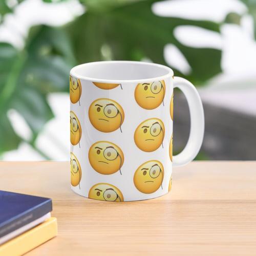 Monokel Emoji Tasse