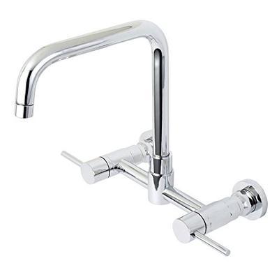 Kingston Brass KS8161DL Concord 8-Inch Center set Wall Mount D-Spout Double Handle Kitchen Faucet Po