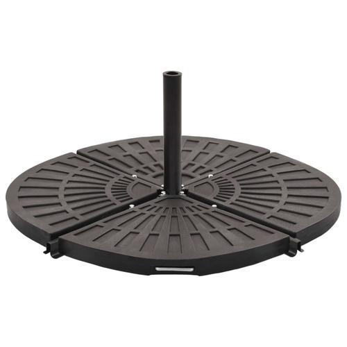 vidaXL Sonnenschirm-Gewichtsplatten 4 Stk. Schwarz Fächerförmig 80 kg